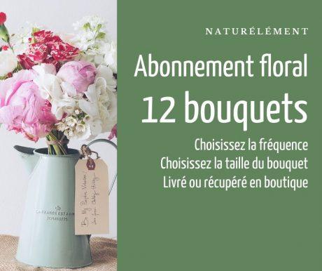 Abonnement 12 bouquets