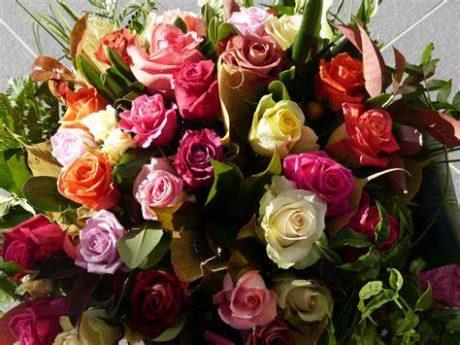 bouquet de roses variées